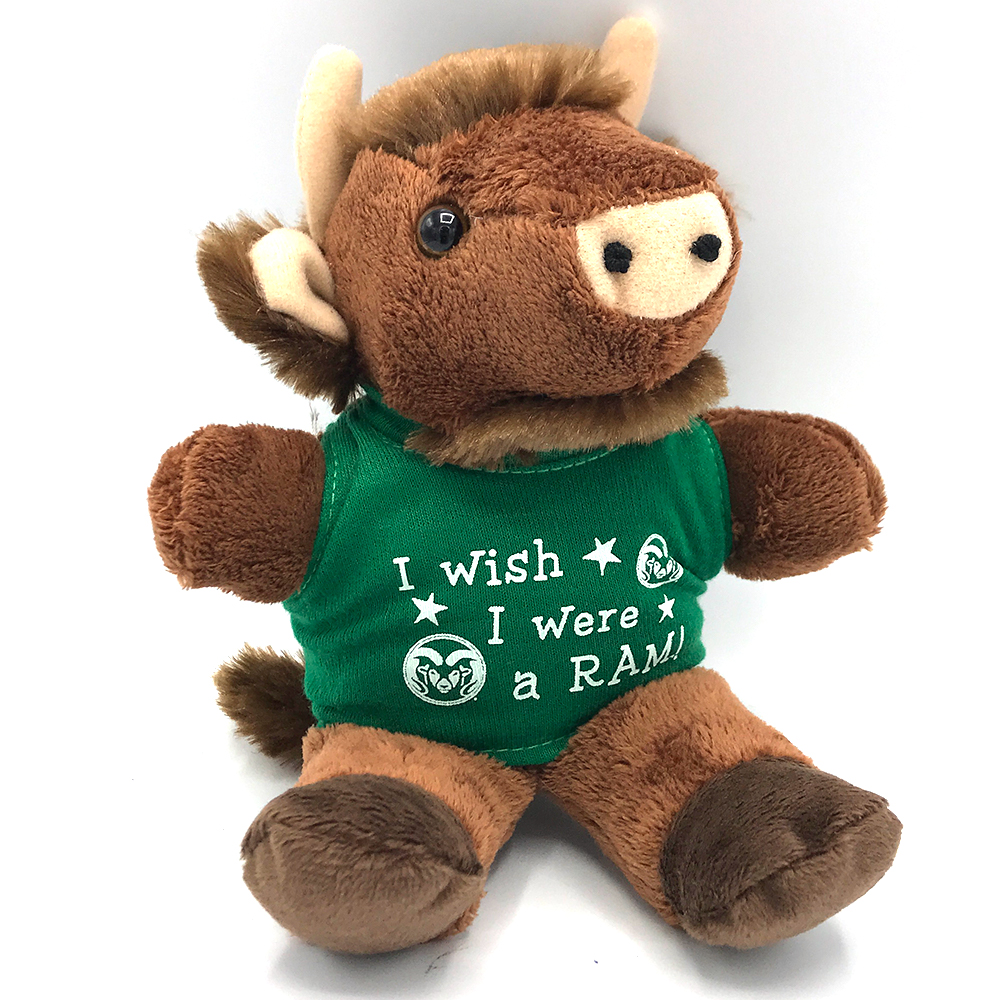 "Image For CSU ""I Wish I Was a Ram"" Stuffed Buffalo"