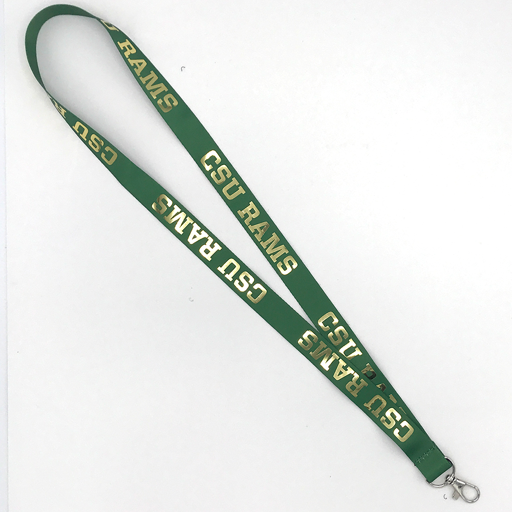 "Image For CSU Rams 3/4"" Foil Lanyard- Green"
