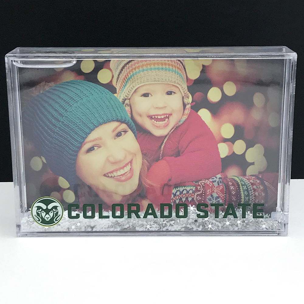 "Image For 4""x 6"" Ram Head Colorado State Snowy Picture Frame"