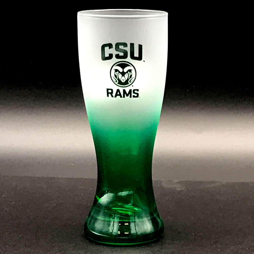 Image For Green Frosted Ram Head Shot Glass