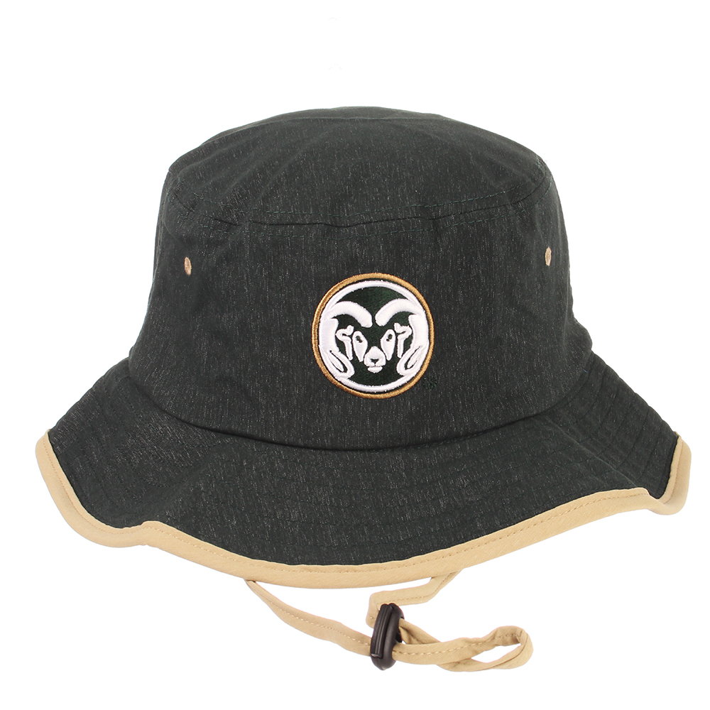 a9cf500dad5 Black Colorado State University Zephyr Bucket Hat-S M