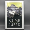 Image for Framed Colorado 14ers Poster by Alumni Blair Hamill CSU