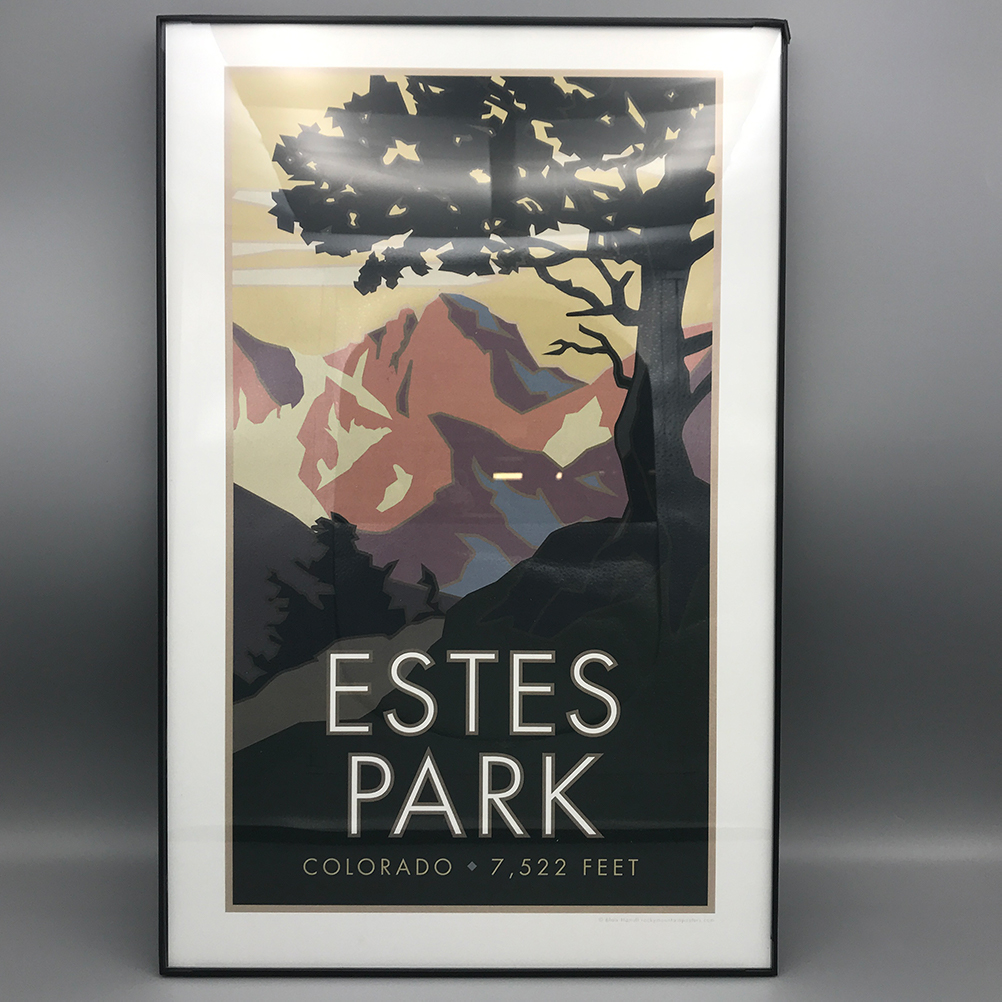 Image For Framed Estes Park Poster by Alumni Blair Hamill CSU