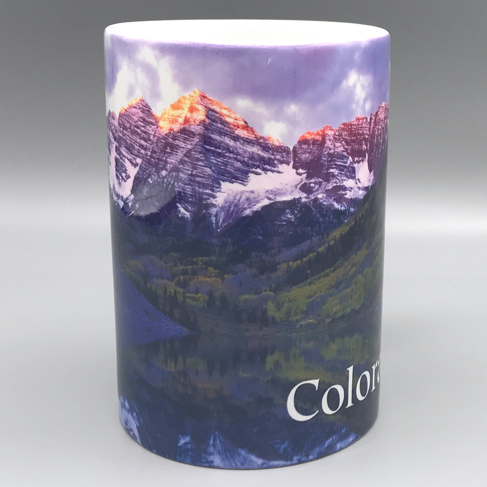 Image For Colorado Maroon Bells Ceramic  Mug  CSU