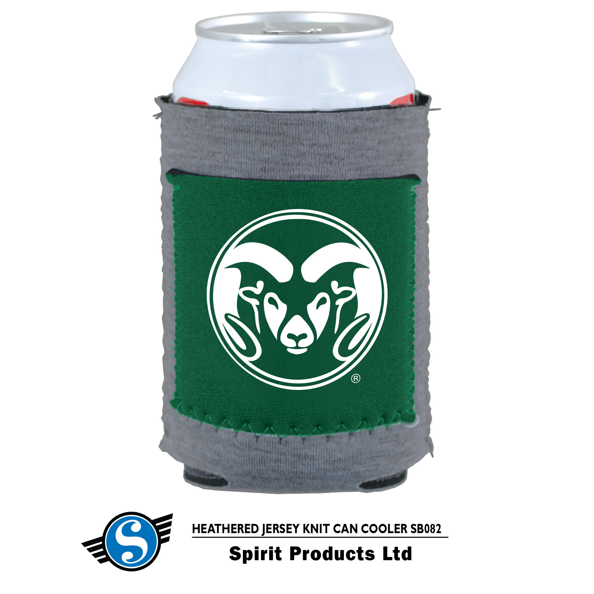 Image For Colorado State University RamHead Can Koozie