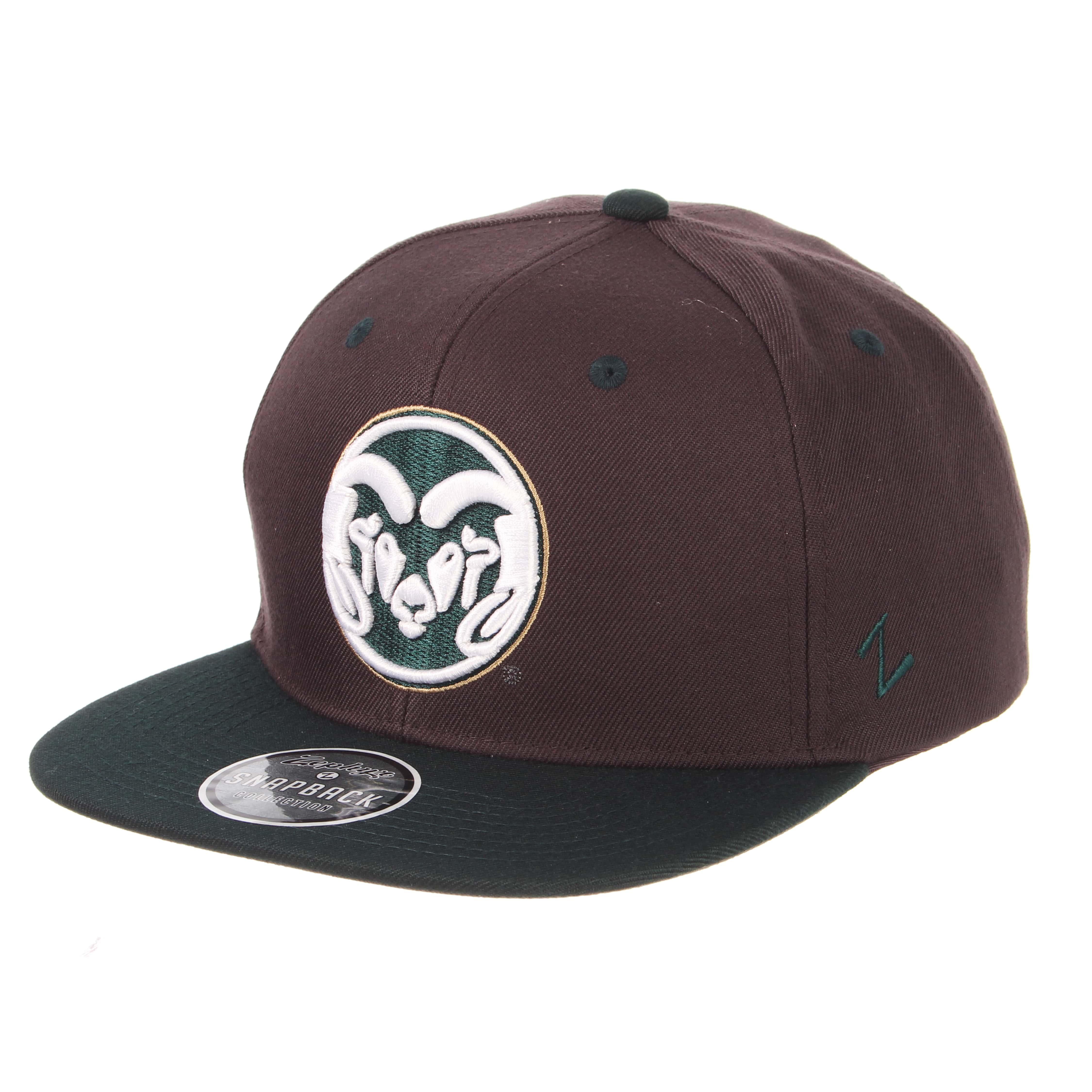 11ef6c07b85 Charcoal Grey Forest Green CSU RamHead Hat by zephyr