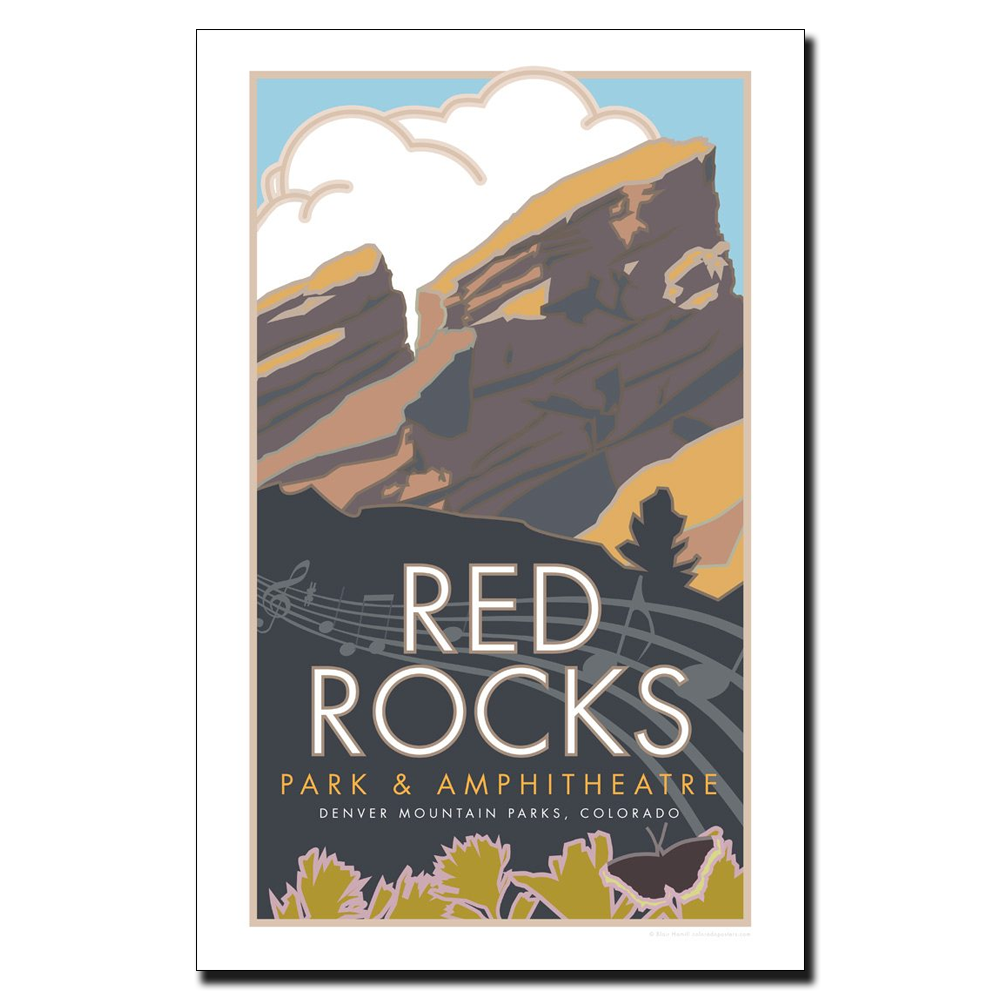 Image For Red Rocks 11 x 17 Poster by CSU Alum Blair Hamill - Unframed