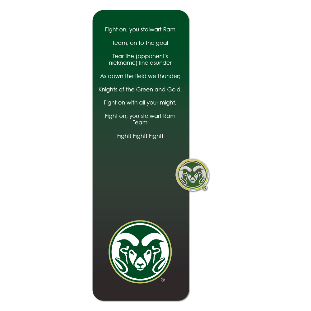 Image For Colorado State Rams Pin and Bookmark