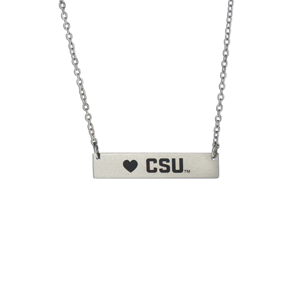 Cover Image For Colorado State Rams Bar Necklace