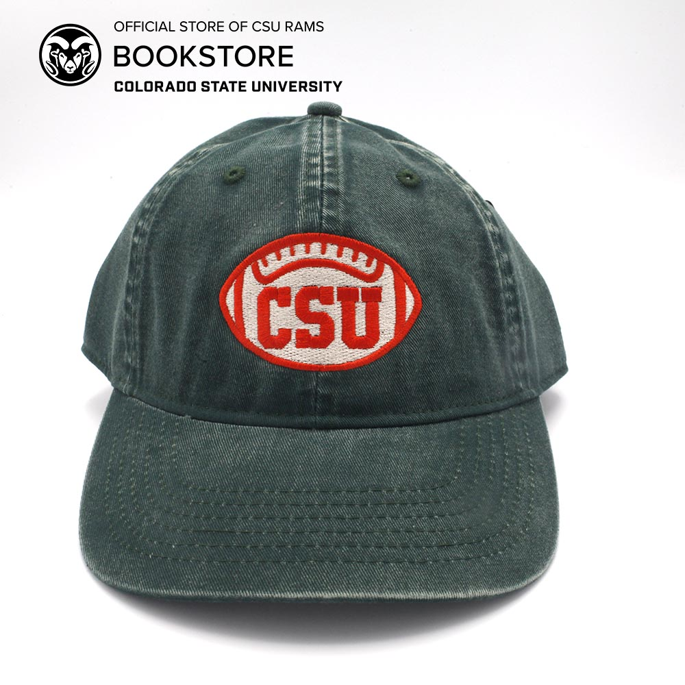 Image For CSU Football Tea Stained Solid Cap - Forest Green