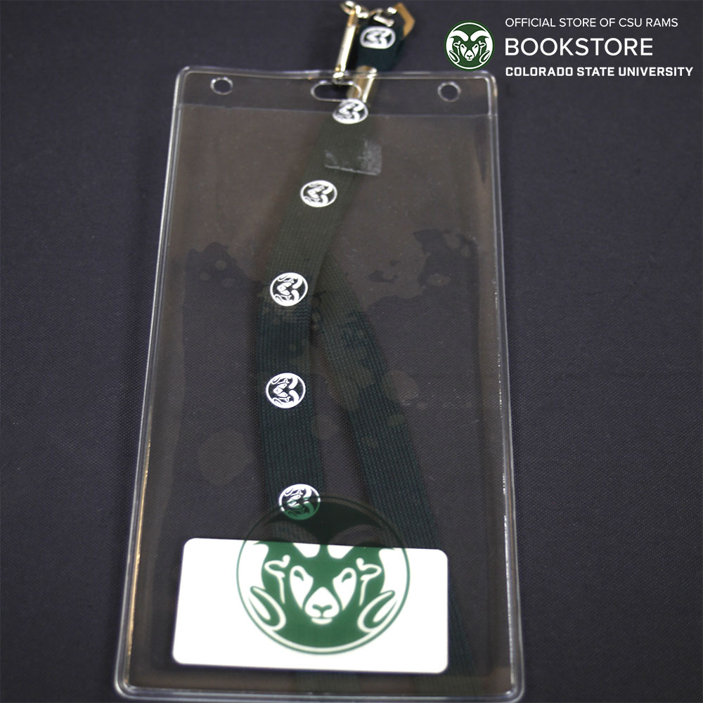 Cover Image For CSU Badge Holder and Lanyard