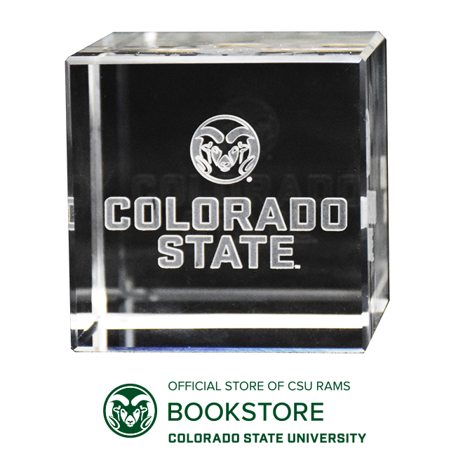 Image For Colorado State University Signature Logo Crystal Cube