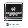 Cover Image for CSU Laser Engraved Ram Head Logo Crystal Cube