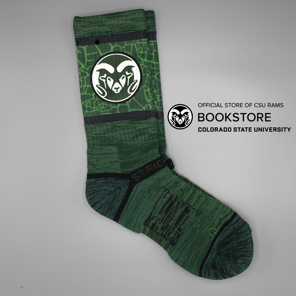 Image For Strideline Colorado State Forest Crew Socks