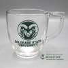 Image for 14Oz., CSU Clear Glass Coffee Mug
