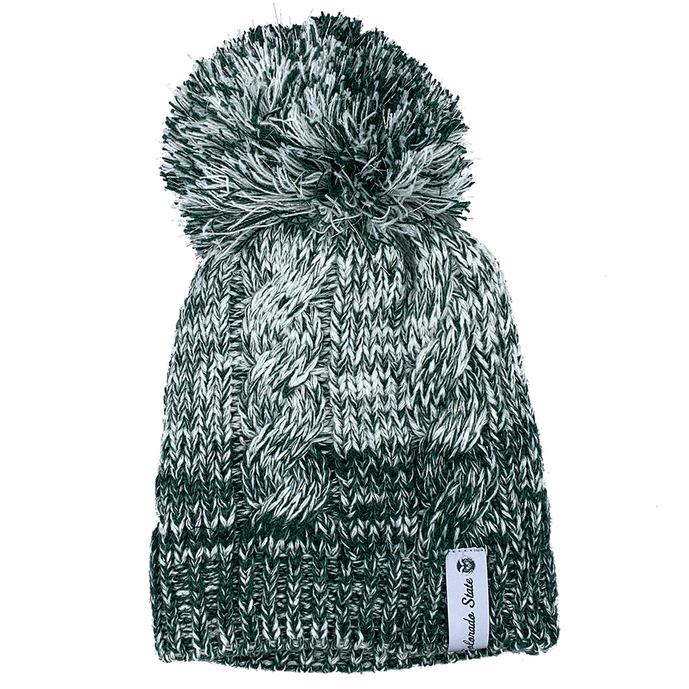 Image For CSU Green/White Knit Hat