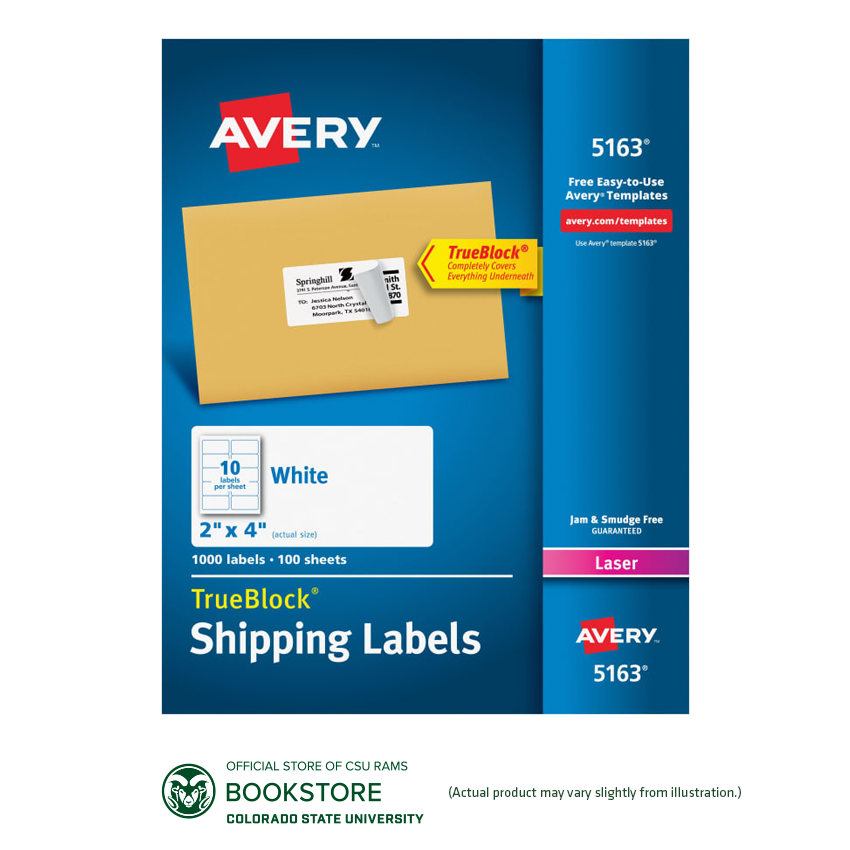 "Image For Avery® TrueBlock® 2"" x 4"" White Shipping Labels 1000ct"