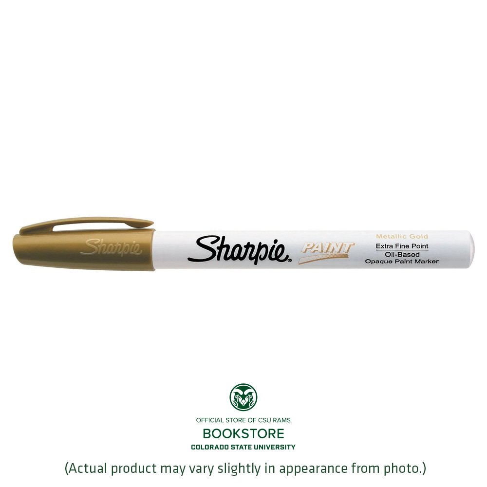 Image For Extra Fine Tip Sharpie Gold Paint Marker