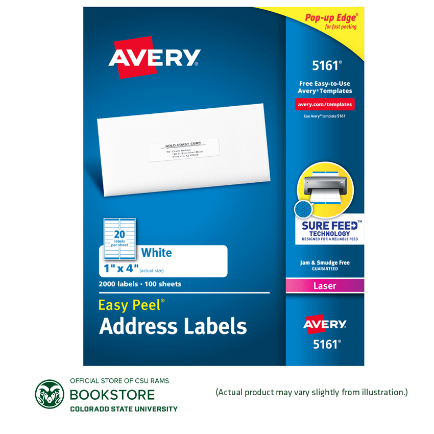 "Cover Image For Avery 1"" X 4"" Easy Peel White Address Labels 1000 ct."
