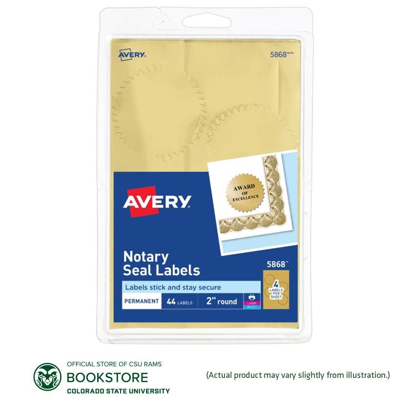Image For Avery Permanent Notarial Seals