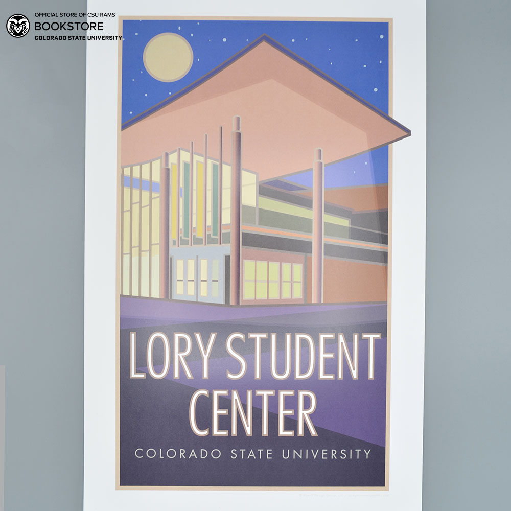 Cover Image For Lory Student Center Poster By Blair Hamill