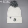 Image for White Under Armor Sideline Beanie with Ram Head Logo