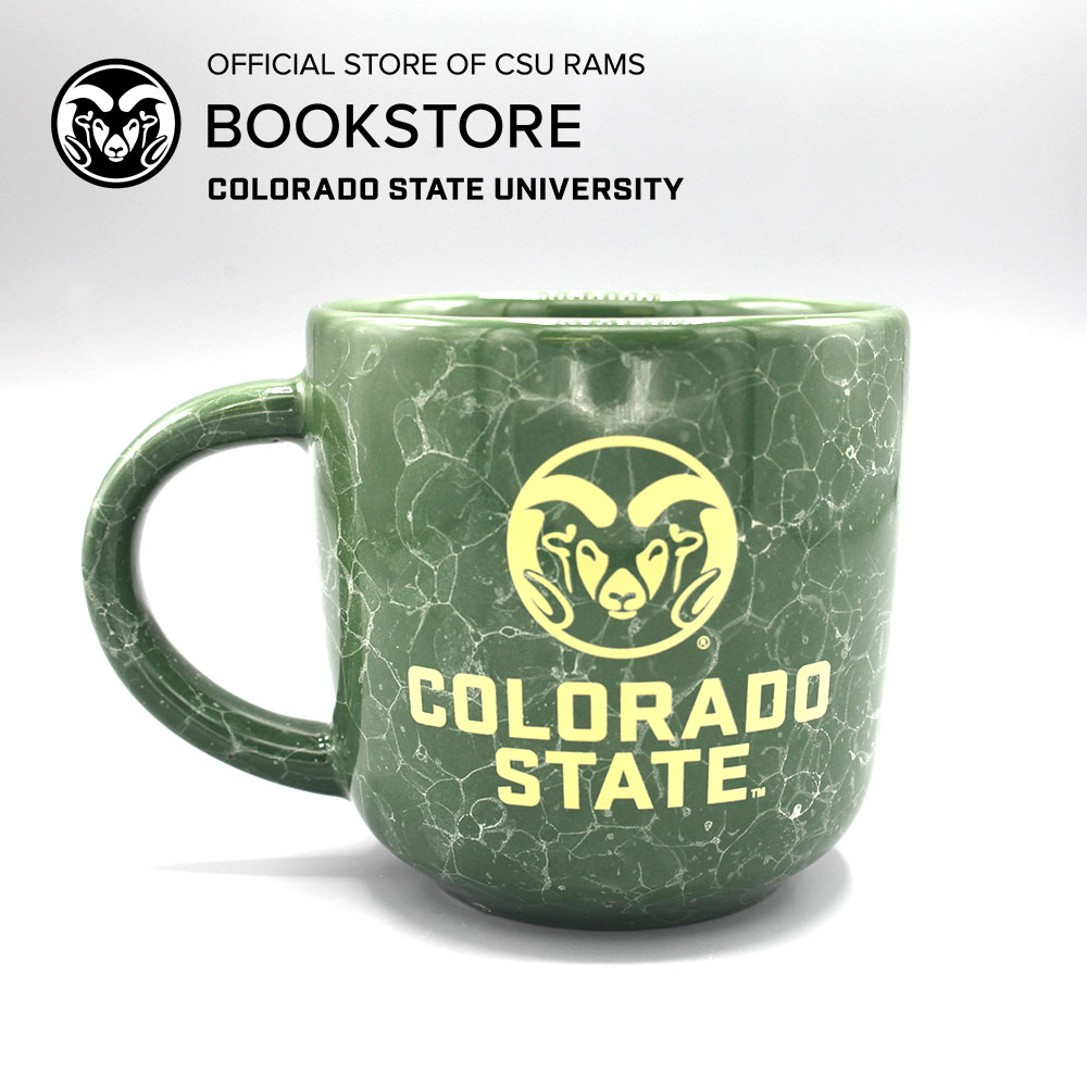 Image For CSU Forest Green Marbled Mug