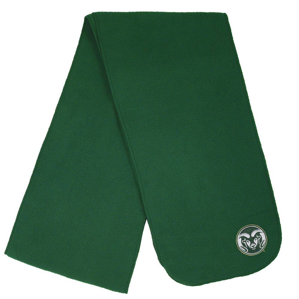 Image For CSU Ramhead Green Fleece Scarf by LogoFit