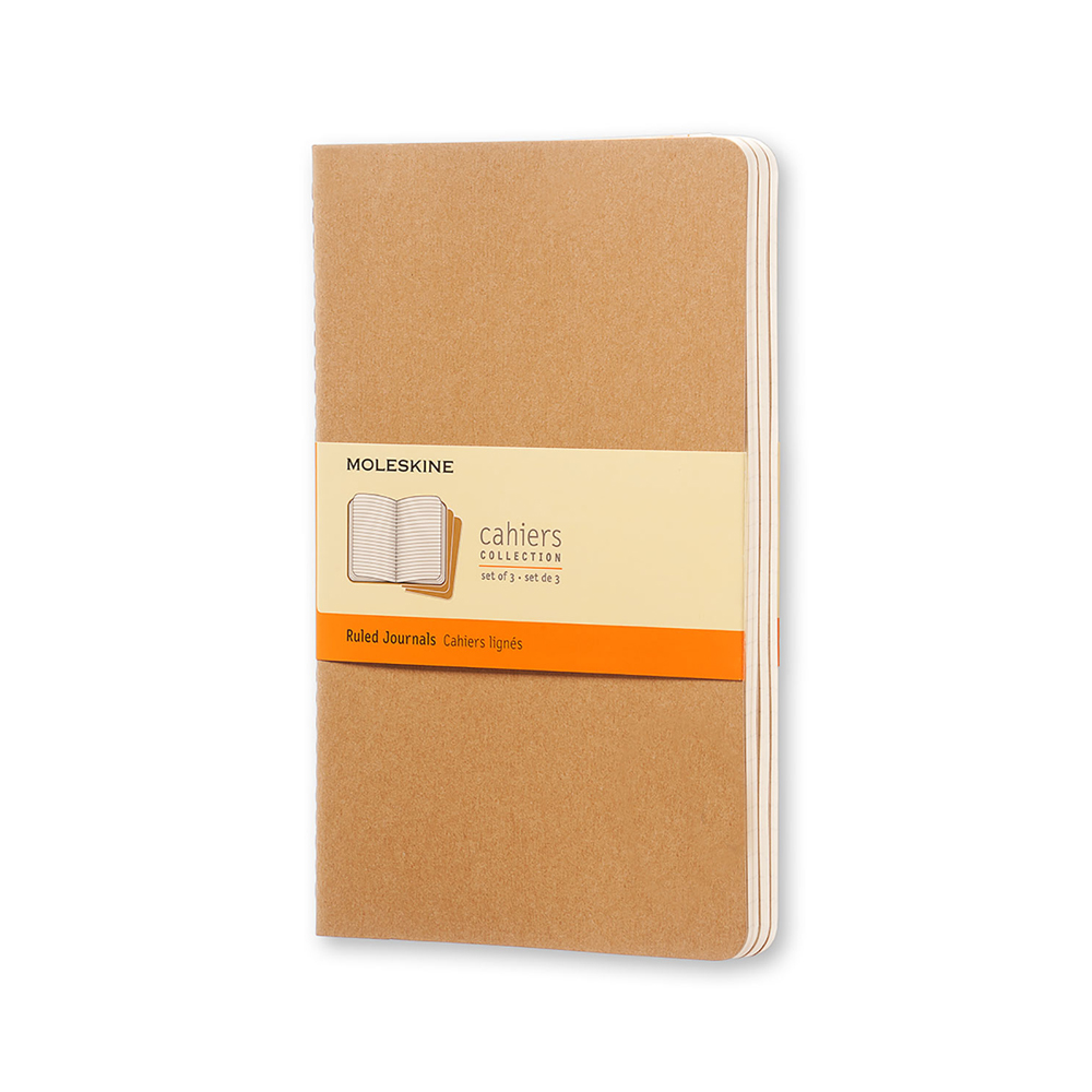 Image For Moleskine Kraft Brown Ruled Journals 3 Pack