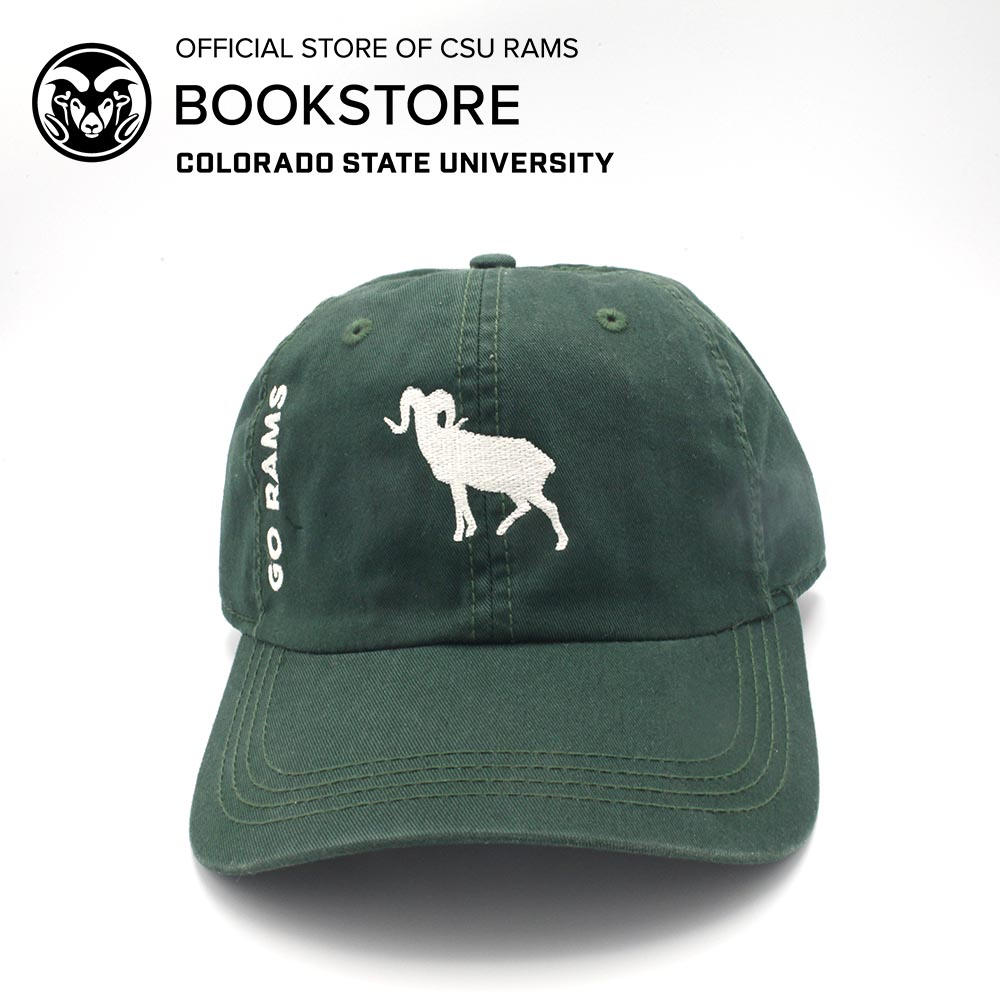 Cover Image For AHEAD Unstructured Ram Silhouette Cap - Hunter Green f72d58ee1