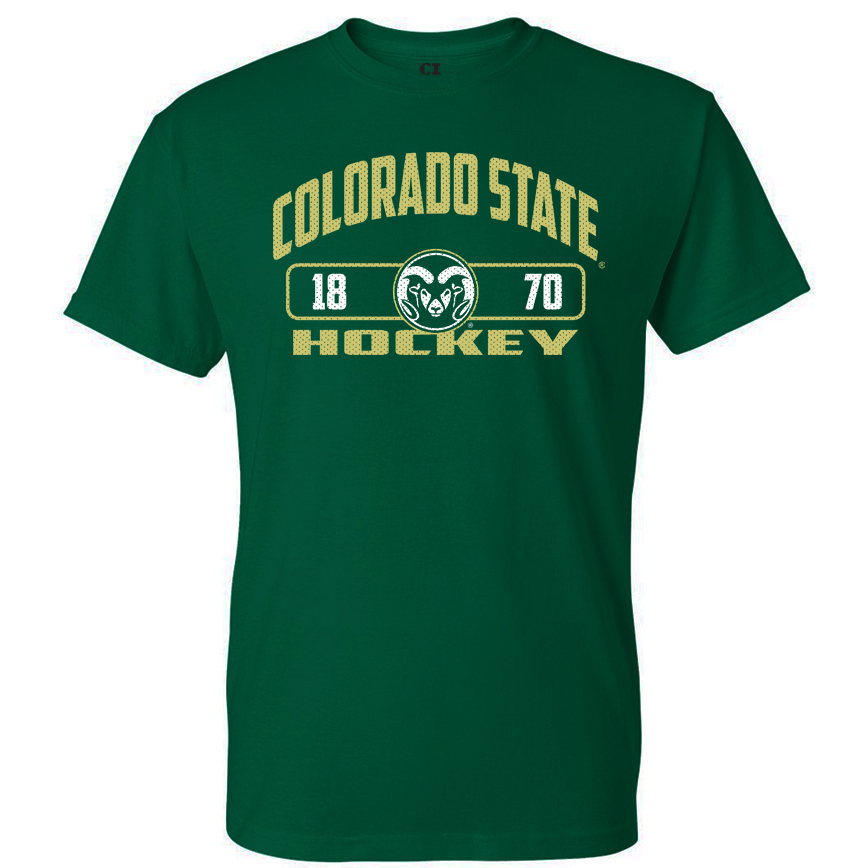Image For CSU Rams Unisex Hockey T-shirt - Size 2XL