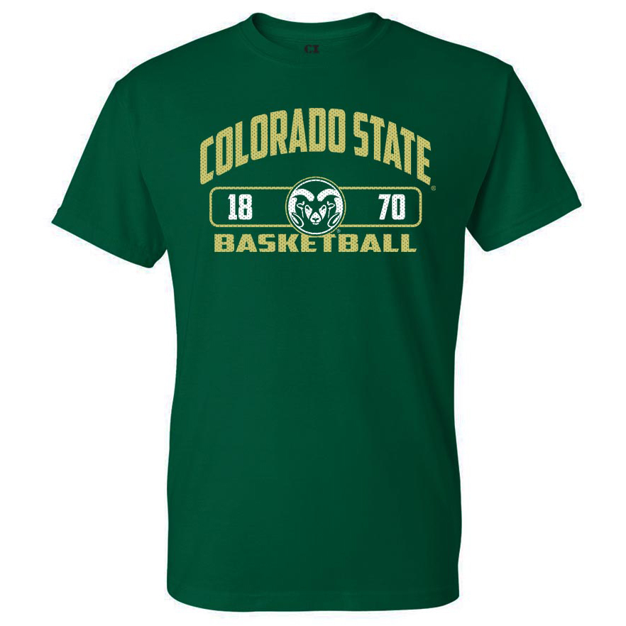 Image For CSU Rams Unisex Basketball T-shirt - Size 2XL