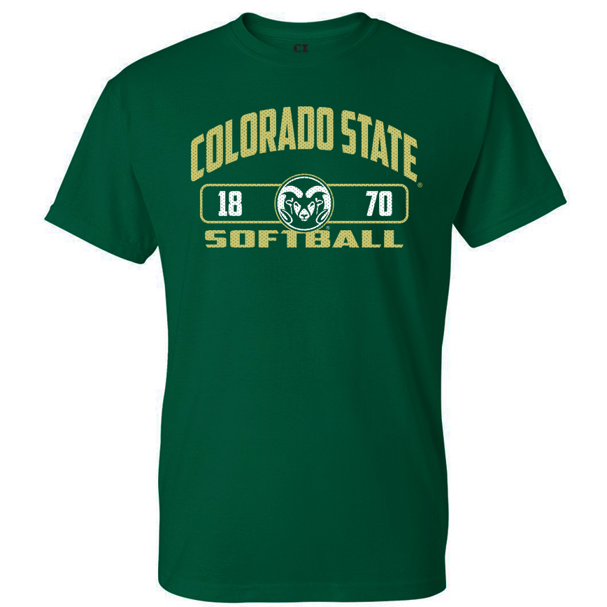 Image For CSU Rams Unisex Softball T-shirt