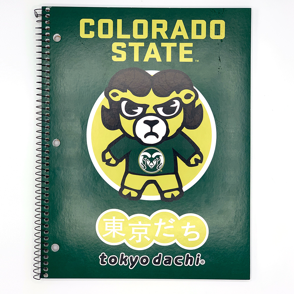 Image For Green Colorado State Tokyodachi 1 Subject Spiral Notebook