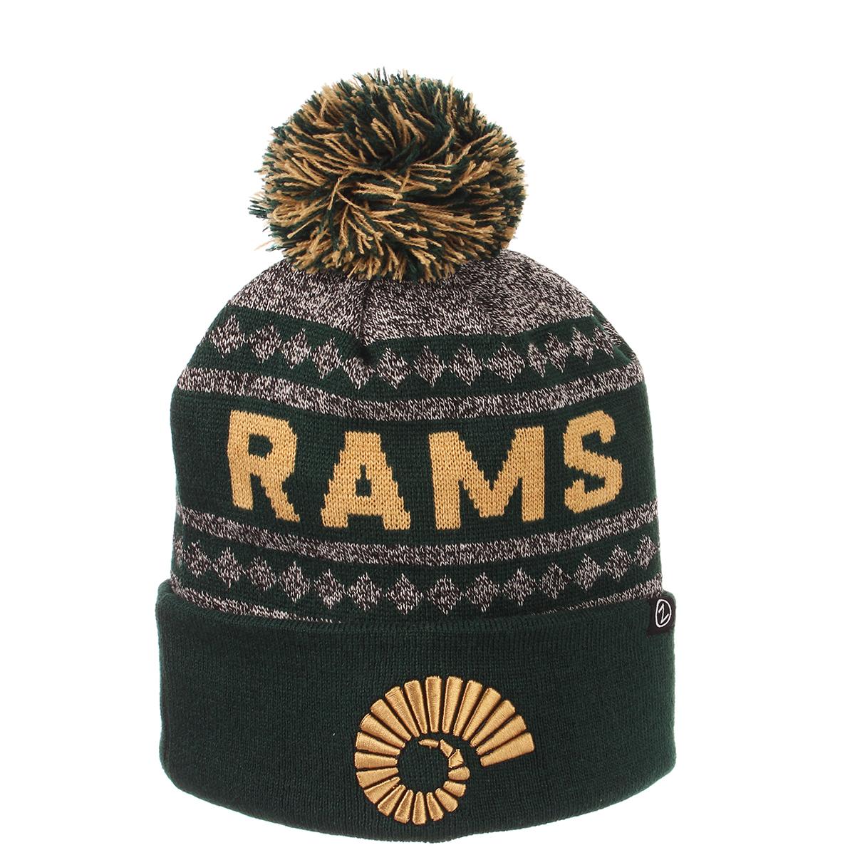 f063badcbf8 Colorado State Rams Pom Knit Beanie by Zephyr