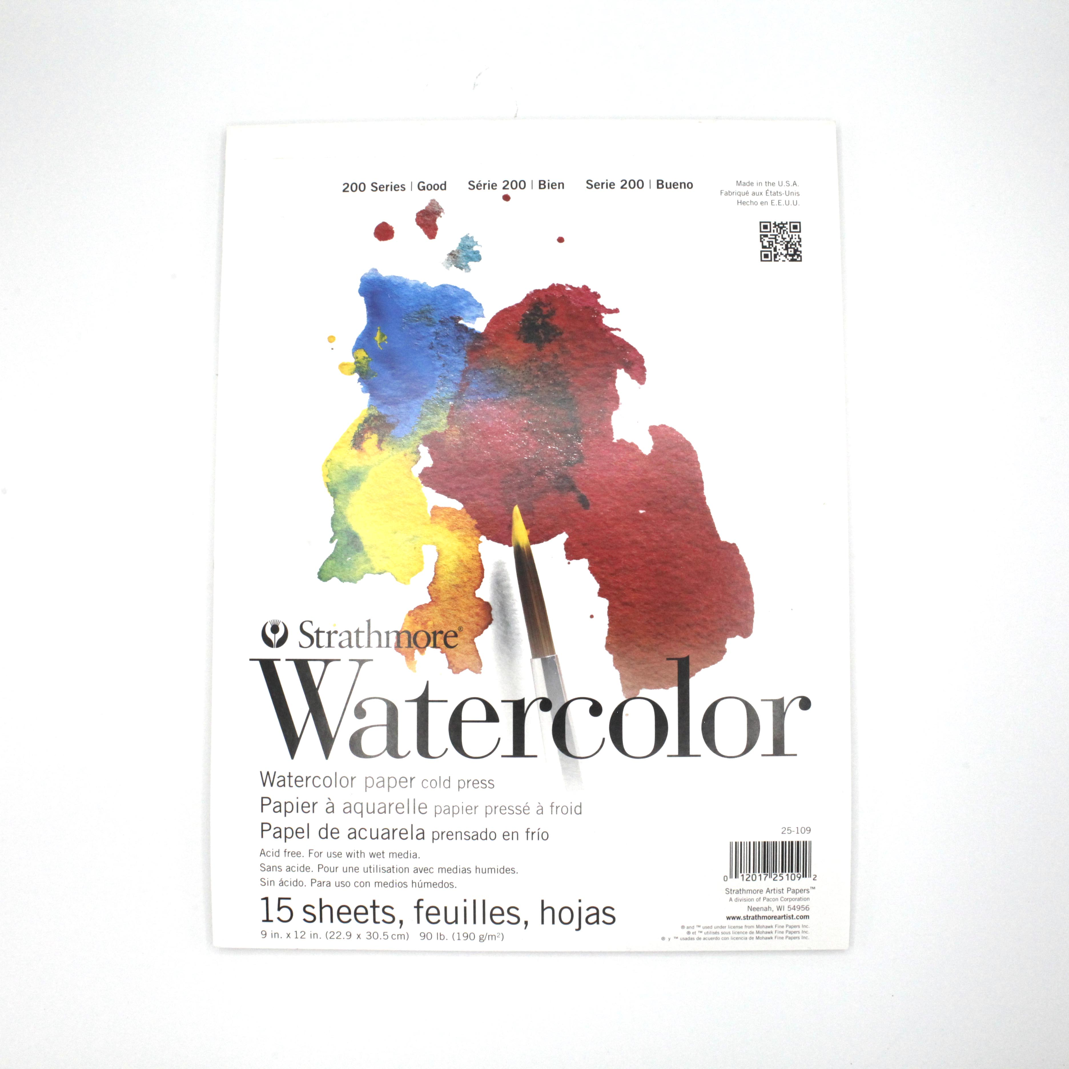 "Image For 9"" x 12"" Strathmore Watercolor Pad"
