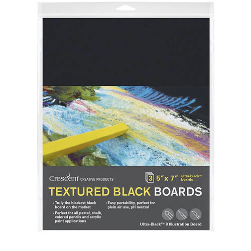 "Image For 3 pack 5""x7"" Textured Black Boards by Crescent"