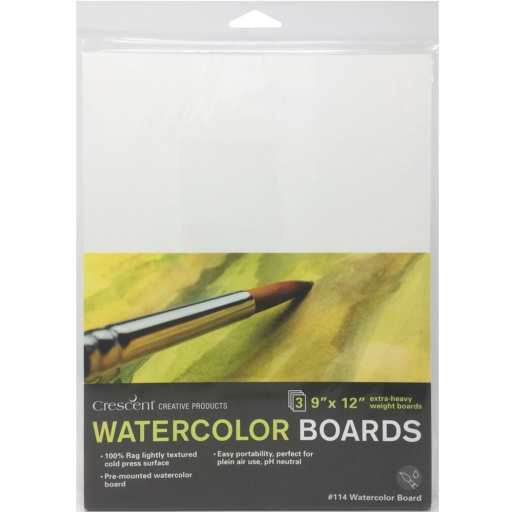 "Image For 9""x12"" Watercolor Boards 3 Pack"