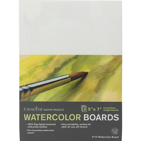 "Image For 5""x7"" Watercolor Board 3 Pack"