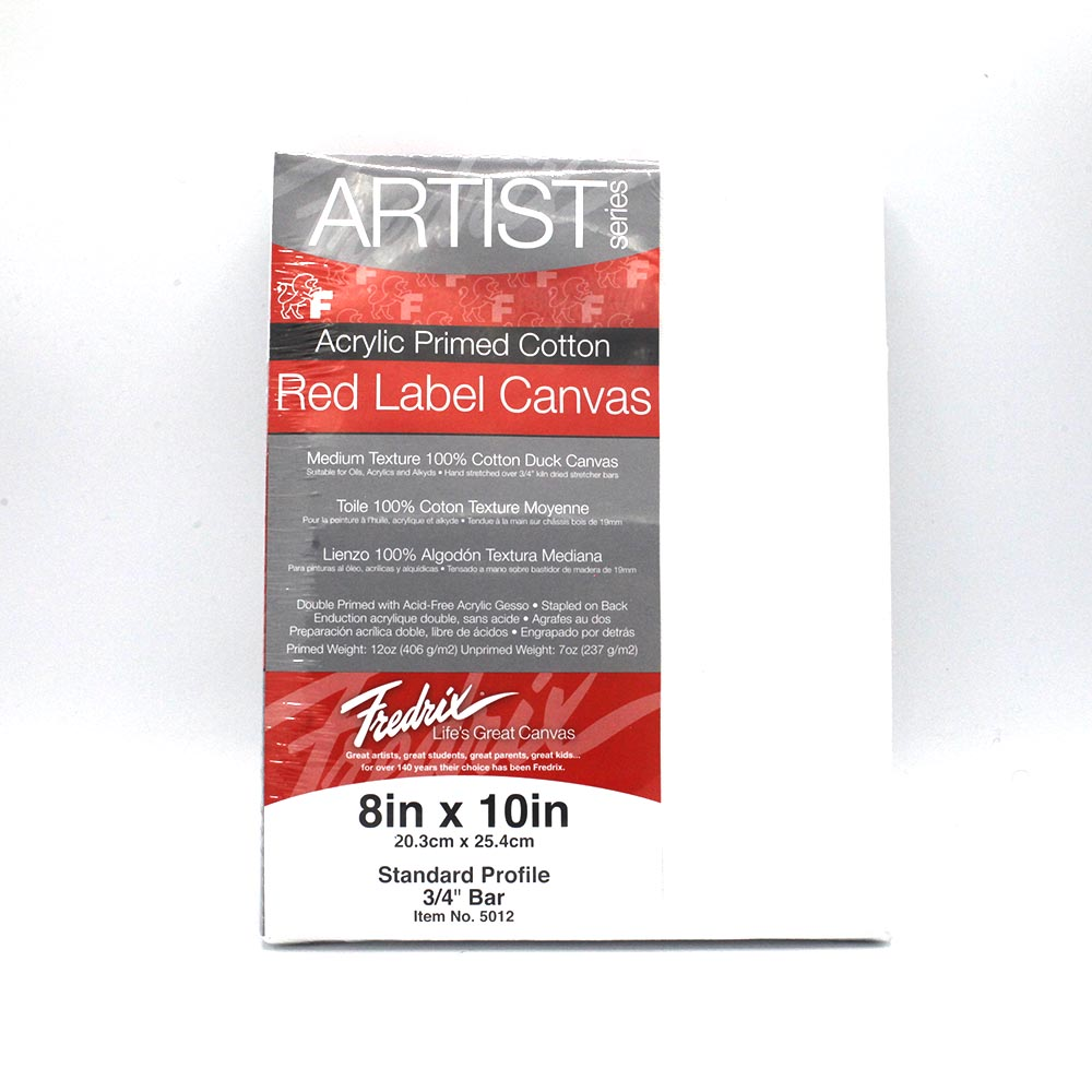 "Image For Fredrix 8x10"" Red Label Canvas"