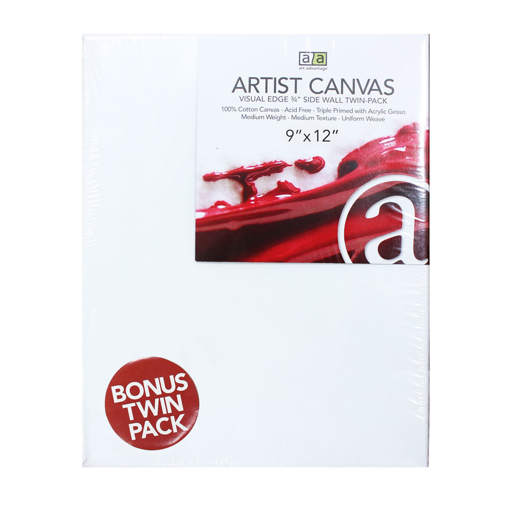 "Image For 9""x12"" Artist Canvas Twin Pack"