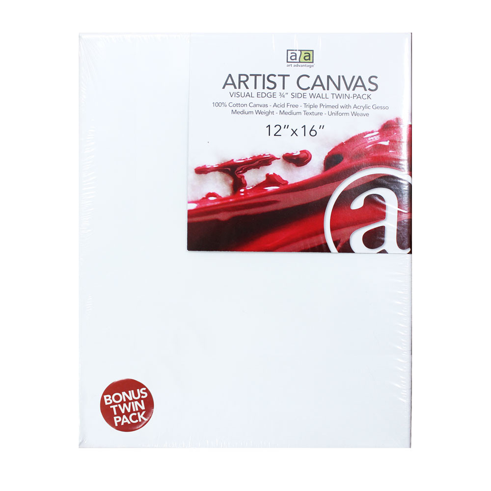 "Image For 12""x16"" Artist Canvas Twin Pack"