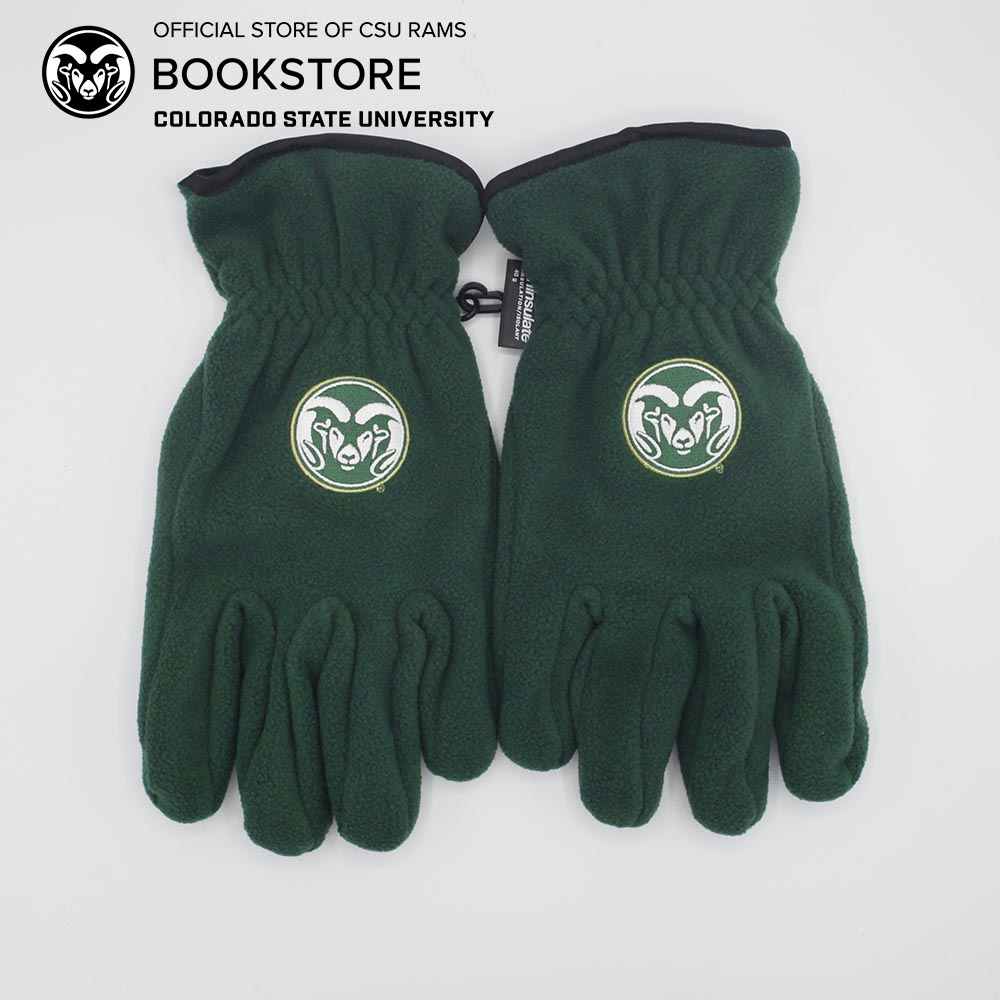 Image For Logofit Large Colorado State Fleece Gloves