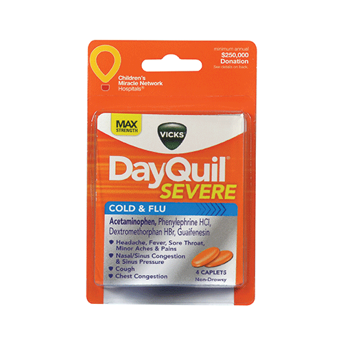 Image For DayQuil Severe Cold and Flu Daytime Relief Caplets