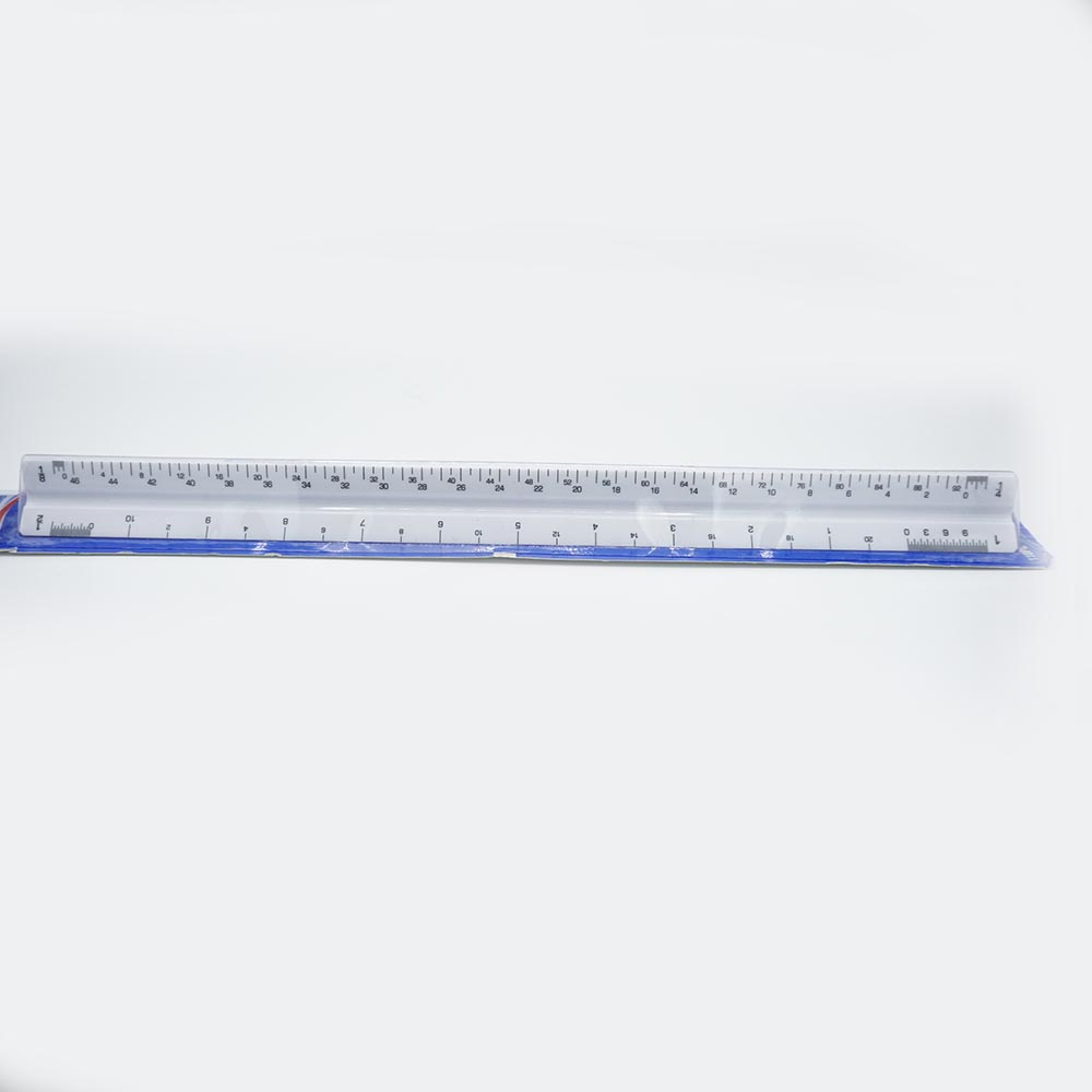 "Cover Image For Alvin 110PC 12"" High Impact Plastic Triangular Scale"