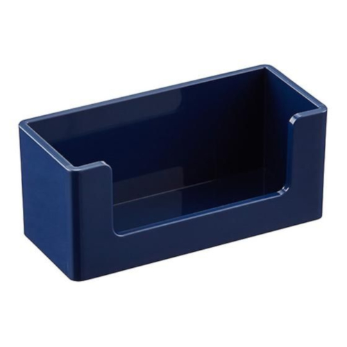 Image For Poppin. Navy Business Card Holder