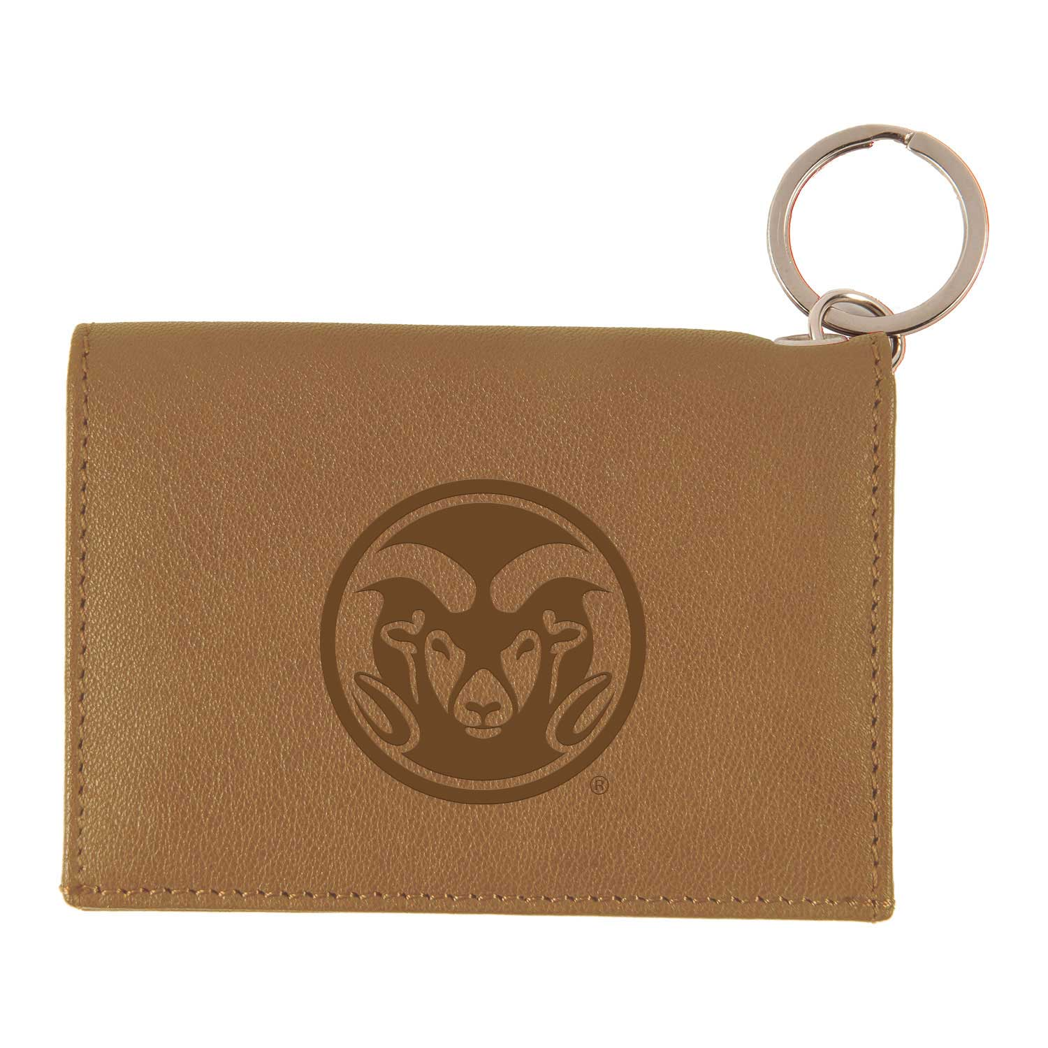 Image For Tan Colorado State University Leather ID Holder
