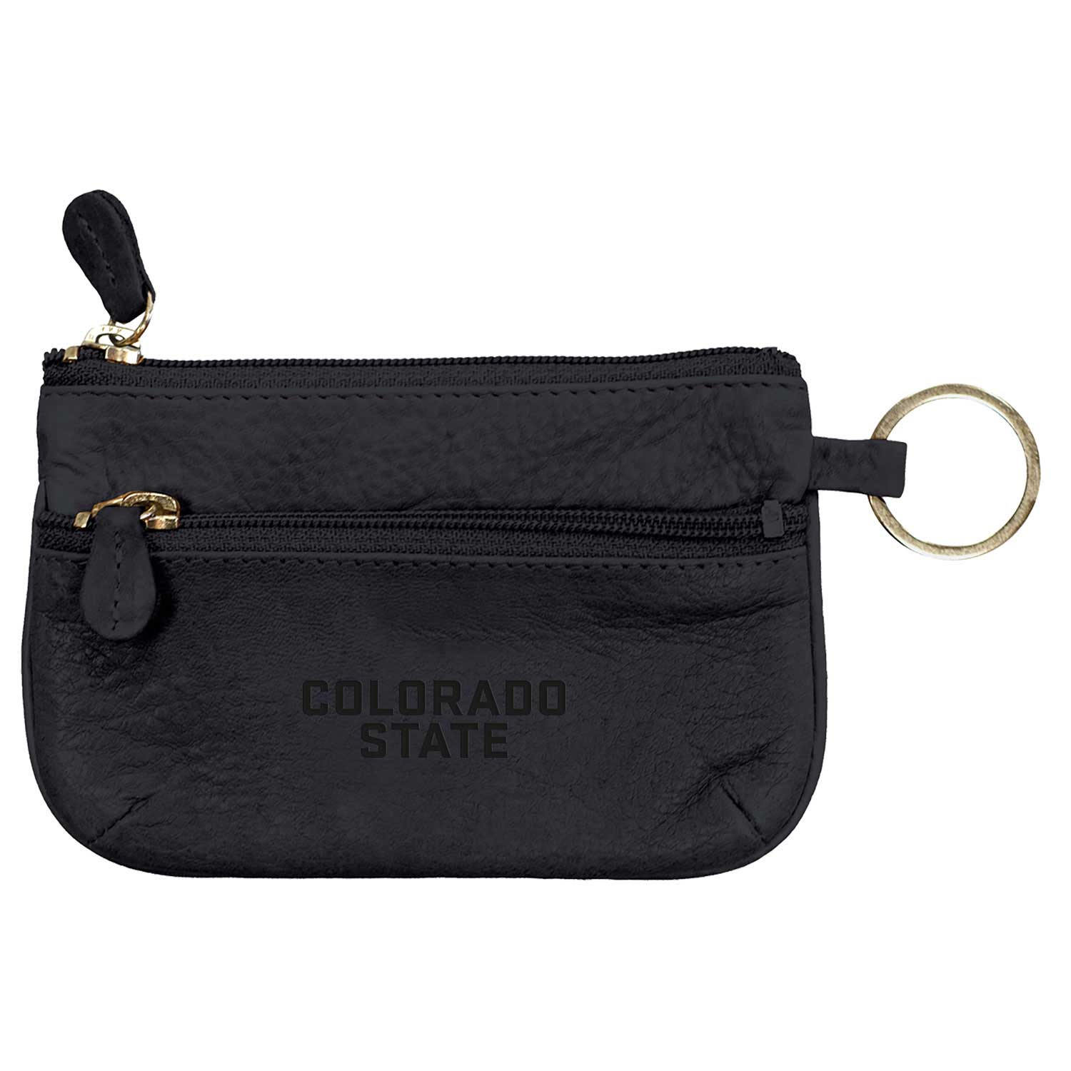 Image For Black Colorado State University Leather Coin Bag