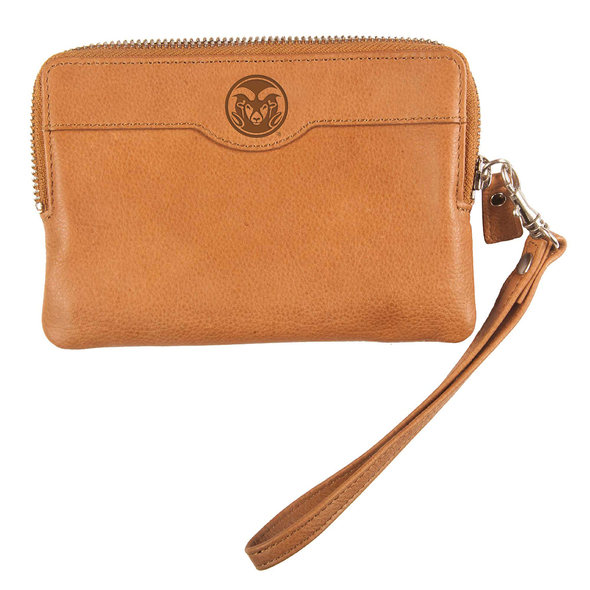 Image For Tan Colorado State University Leather Wallet with Wristlet