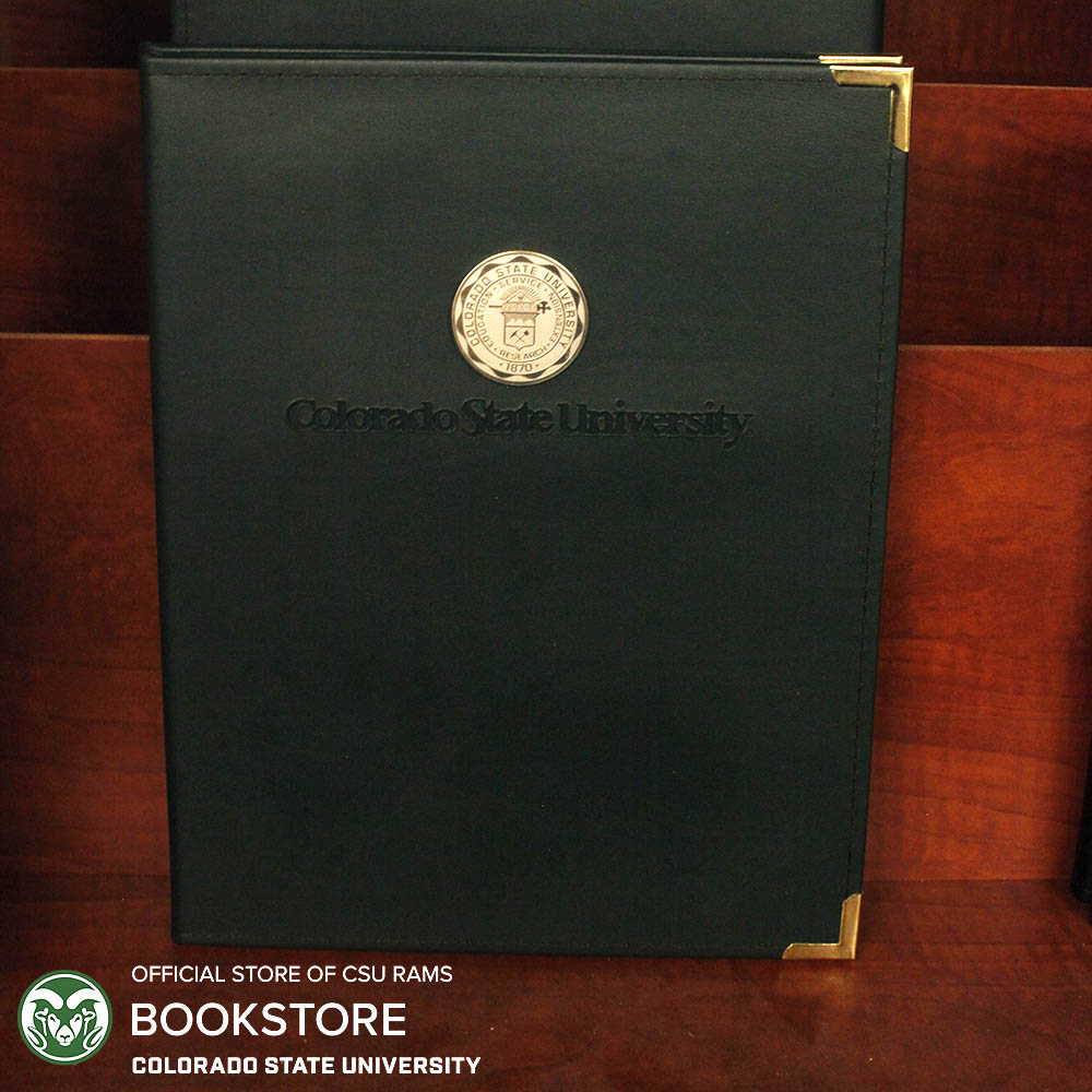 Cover Image For Green Colorado State University Leather Padfolio - Wordmark